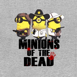 tee shirt minions of the dead parodie walking dead gris