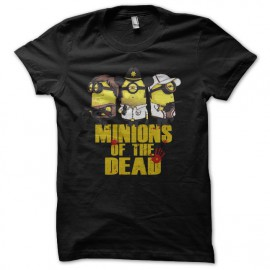 tee shirt minions of the dead parodie the walking dead noir