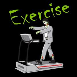 tee shirt zombie exercise black