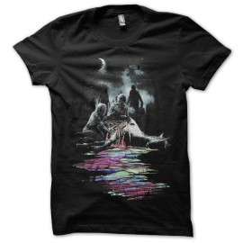 tee shirt art zombie black