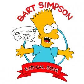 tee shirt Bart simpson white