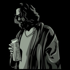 tee shirt big lebowski black