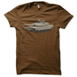 tee shirt m1 abrams marron