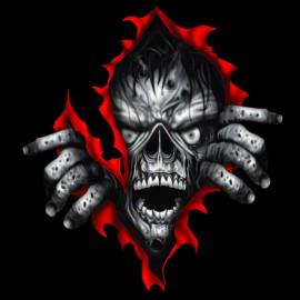 tee shirt Zombie black