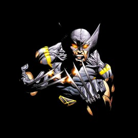 tee shirt wolverine mode comics noir