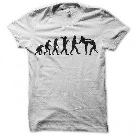 tee shirt evolution free fight blanc