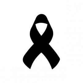 tee shirt ruban noir hommage a charlie hebdo blanc