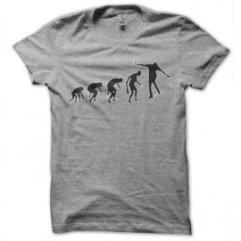 tee shirt skateur evolution gris