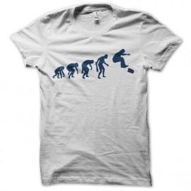tee shirt skateur evolution blanc