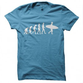 tee shirt surf evolution bleue ciel