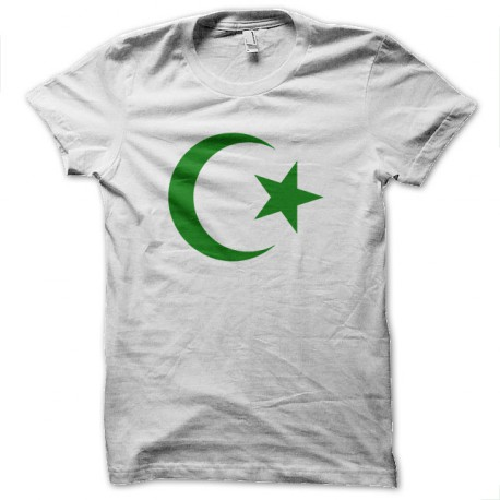 Tee Shirt Islam Green on White