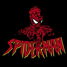 tee shirt spiderman artwork noir