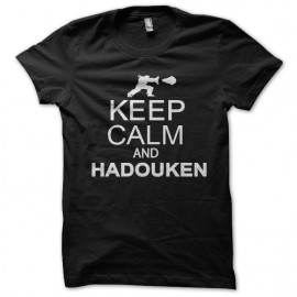 tee shirt keep calm and hadouken noir