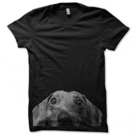 tee shirt design dog  funny noir