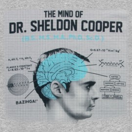 tee shirt the mind of dr sheldon cooper gris