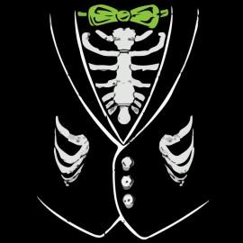tee shirt skeleton shirts noir