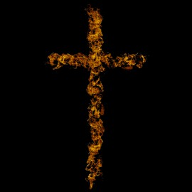 tee shirt Cross of Fire noir