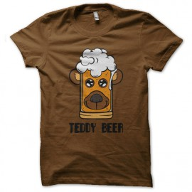 tee shirt teddy beer marron