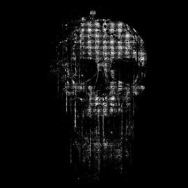 tee shirt skull sombie T Shirt design noir
