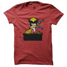tee shirt job special wolverine red