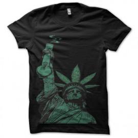 tee shirt marijuana queen noir