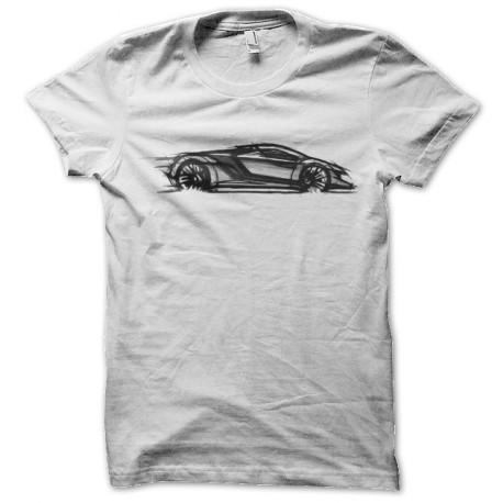 tee shirt supercars art blanc