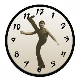 tee shirt bruce lee horloge blanc