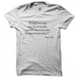 tee shirt steve job epigram  blanc