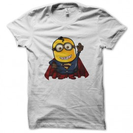 tee shirt supper minion blanc