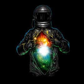 tee shirt spaceman design art noir