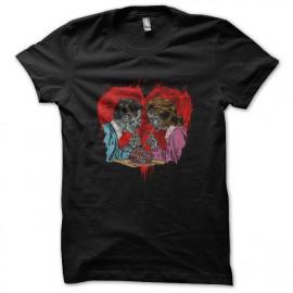 tee shirt love zombie noir