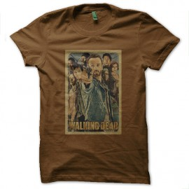 tee shirt the walking dead marron
