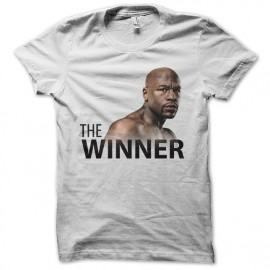 tee shirt the winner blanc