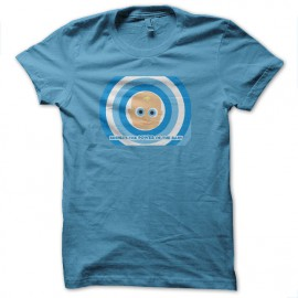 tee shirt baby power turquoise