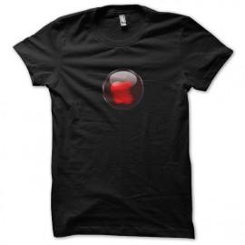 tee shirt red apple noir