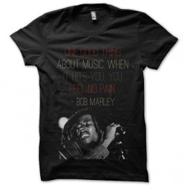 tee shirt bob marley noir