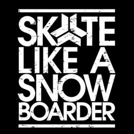 tee shirt skete like a snow boarder noir