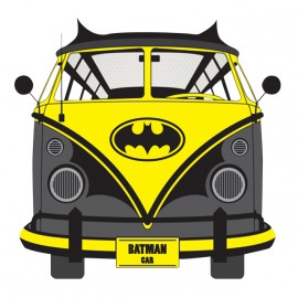 tee shirt batman car blanc