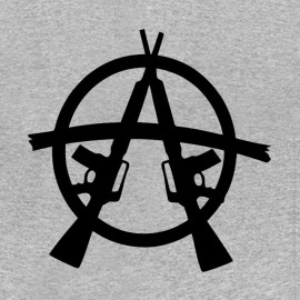 tee shirt m16 anarchy gris