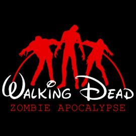 tee shirt Walkin Dead zombie apocalypse noir