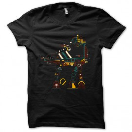 tee shirt Star Wars Funny  noir