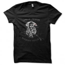 tee shirt sons of anarchy logo design noir
