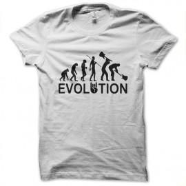 tee shirt evolution rock blanc