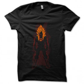 tee shirt super saiyan man noir