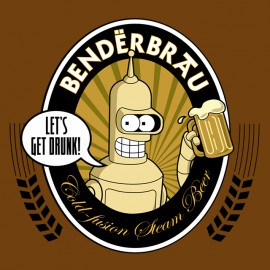 tee shirt Bender brau marron