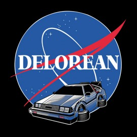 tee shirt Delorean noir
