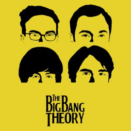 tee shirt big bang theory jaune