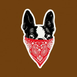 tee shirt gangsta dogs marron