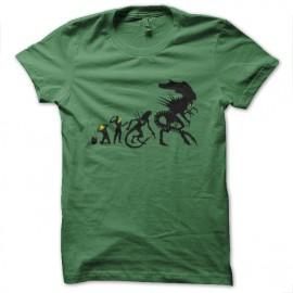 tee shirt evolution alien vert