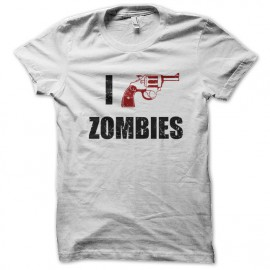 tee shirt I Shotgun Zombies blanc